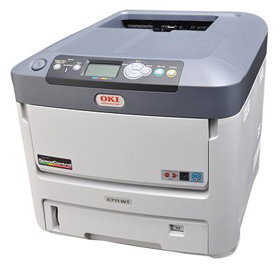 oki c711wt Hvit toner printer fra http://www.themagitouch.no