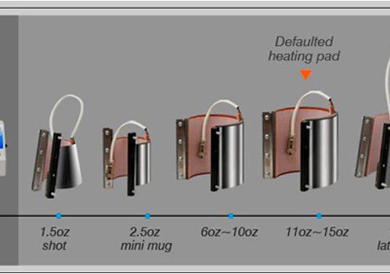 Kopp presse elementer (sublimering)