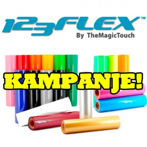 123 flex tekstilfolie kampanje