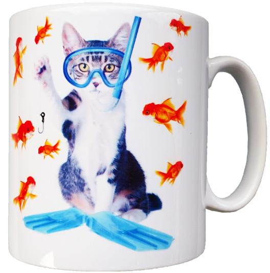Hvit Durham kopp sublimerings motiv katt