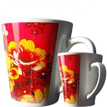 sublimering latte kopp blomster