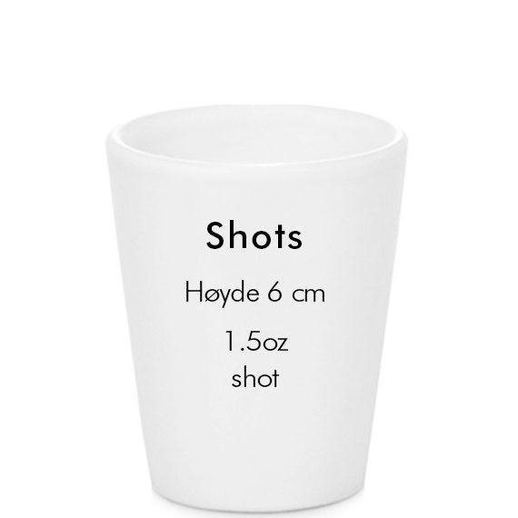 sublimering shot glass størrelse