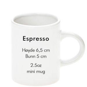 sublimering espresso hvit kopp
