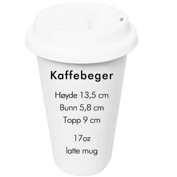 sublimering kaffe størrelse