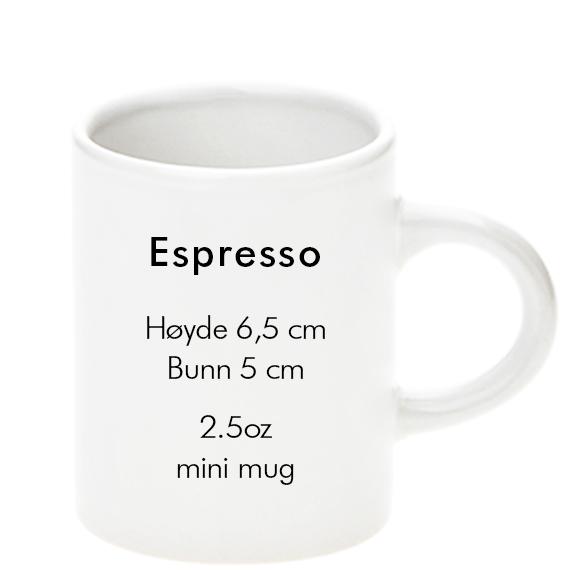 sublimering kopp espresso størrelse