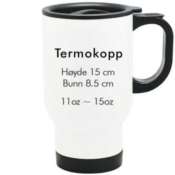 sublimering termokopp hvit størrelse