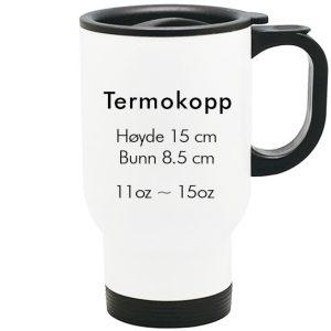 sublimering termokopp hvit