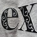 duoflex svart og hvit outline motiv