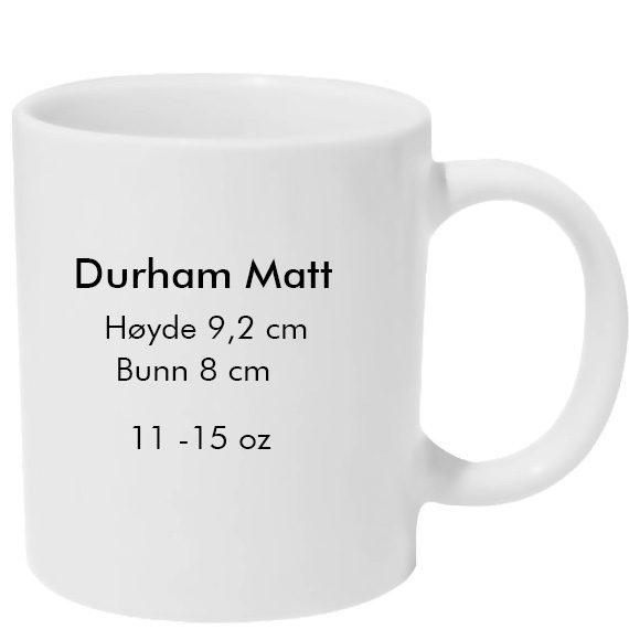 Durham-Matt sublimering kopp