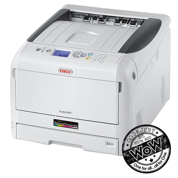 OKI Pro 8432WT Transferprinter med hvit toner