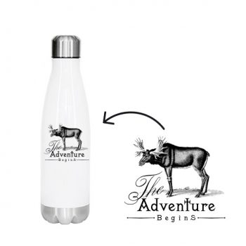 sublimeringsklar flaske metall hvit