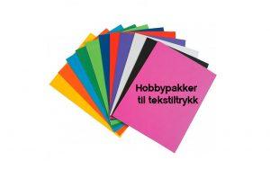 Hobbypakker tekstiltrykk
