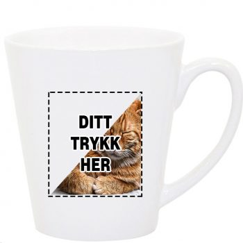 Lattekopp med trykk